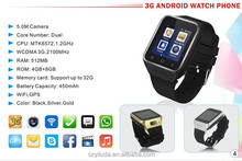 android 4.4.2 operation system watch mobile phone,smart android watch