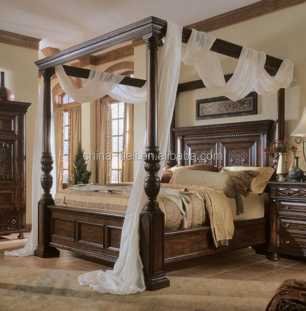 legno antico letto a baldacchino con un design moderno-Letto-Id ...