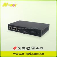 10/100/1000Base-Tx to 1000Base-Fx unmanaged fiber switch for indor