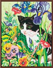 coloring by numbers kit handmaded painting cat design animal picture canvas painting GX6256