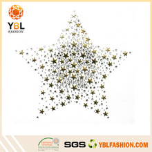 2015 Popular Garment Accessory Hotfix Five Star Rhinestone Iron On Transfer