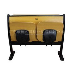 Public classroom metal and wood school desk with chair high quality