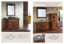 New design dark color bathroom vanity cabinet manufacturers