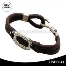 Nuevo diseño artesanal modelos mens pulsera USB0041