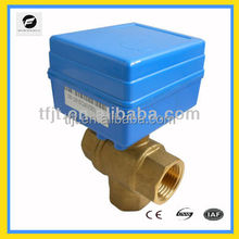 DC5V,DC12V 3-way solar air vacumming electric control valve for control heater and chilled water system