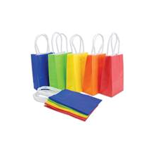 manufacture custom Kraft paper bags with paper handle