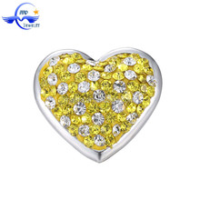 Yiwu Factory Direct Supply Heart Shaped Covered Rhinestone Magnet Sanp Button For Jewelry Accessories