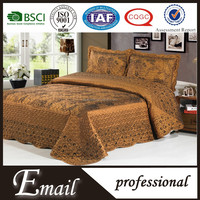 Satin Embroidery Bedspread Set/turkish bedspreads for middle east beds