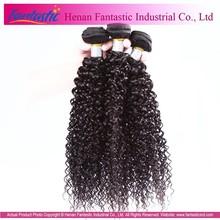 china factory premiun no shedding no tangle no mix virgin brazilian jerry curl hair weave