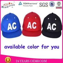 Applique logo custom plain solid color snapback hat