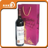 China wholesale custom paper wine bag
