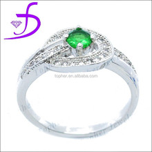 wholesale style mirco pave setting silver bridal ring
