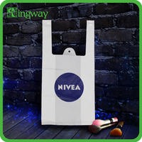 cheaper manufacturer price nivea vest carrier carrying handle carrier plastic handle bag with high quality printing