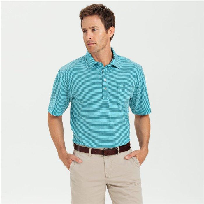 Custom Designer Stripe Polo T Shirts Men Embroide Logo