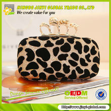 2013 hard evening case with crystal and chain handle crystal clutch evening bags