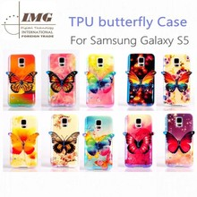 2015 new products Blu-Ray Butterfly TPU case for samsung galaxy s5,for samsung galaxy s5 case with 10 colors