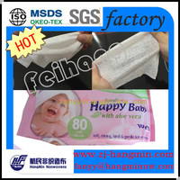 Alcohol Free Baby Spunlace non woven fabric wet wipes raw material