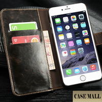 Alibaba wholesale factory price lychi leather wallet cases cover for iphone6 plus