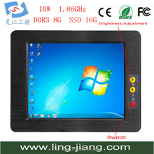 17 inch flat panel industrial embedded all in one pc large touch screen monitor