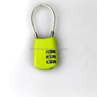 cable combination padlock 3 digit