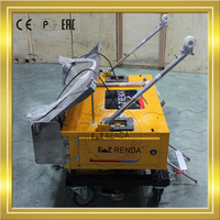 China automatic plastering machine stucco rendered with ready mix mortar