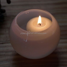 Handmade glass candle holder round heat European Crystal Candlestick Home Decoration crafts