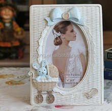 Resin frame baby photo frame sweet standing table picture frame for decoration