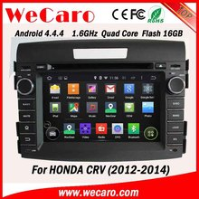 WECARO Factory Wholesale High End 1080P Pure Android 4.4.4 Car Stereo For Honda CRV