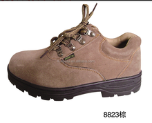 Fashion suede leather Oil and slip resistant men's steel toe cap safety shoes CE quality