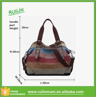 Montage Multicolor hobos canvas top diaper bags with belt