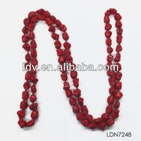 Ruby stone necklace designs natural irregular red stone beaded necklace