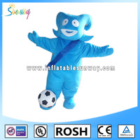 particular blue inflatable animal fur costumes for advertising