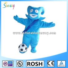 Particular azul animales trajes de piel para publicidad