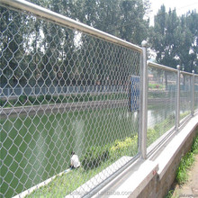 Low price PVC coated chain link fence panels sale/chain link fence prices from factory