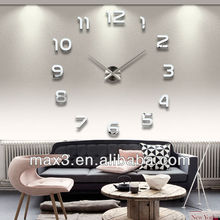Modern Fashion Art Wall stickers Mirror Clock Home Decor For Living Room Bedroom