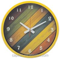 "12"" decorative oem flip plastic wall clock for kitchen"