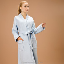 sexy open style blue shawl collar modal bathrobe sexy nighties for women with different color