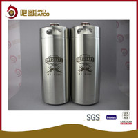 small personal kegs of Stainless steel 4L/128oz/1 gallon growler mini keg