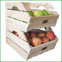 Solid Wooden Food Packaging Disaplay Box for Supermarket