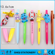 Customized mould carton clip click ball pen for kids gift
