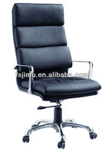 2015 exported office furniture metal arm high back padded chair