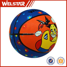 Colorful high quality cheap price outdoor games mini rubber basketballs