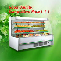 Fan cooling type front open fruit vegetable display