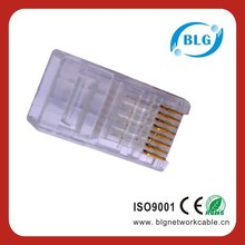 High Quality Easy to Crimp Cat5e Cat6 Cat7 Connector RJ45