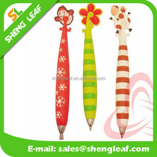 Newly children customized color and new design rubber ballpoint pen