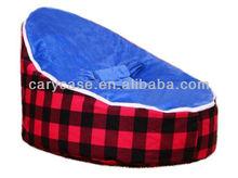 Blue baby seat Lattic bean bag chair, 2 tops convertible kids beanbag sofa seat, baby seat, baby chair , modern sleeper beds