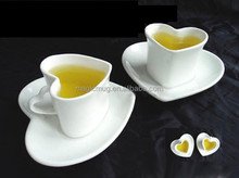 best selling items heart shape coffee cup and plate for promotional gift