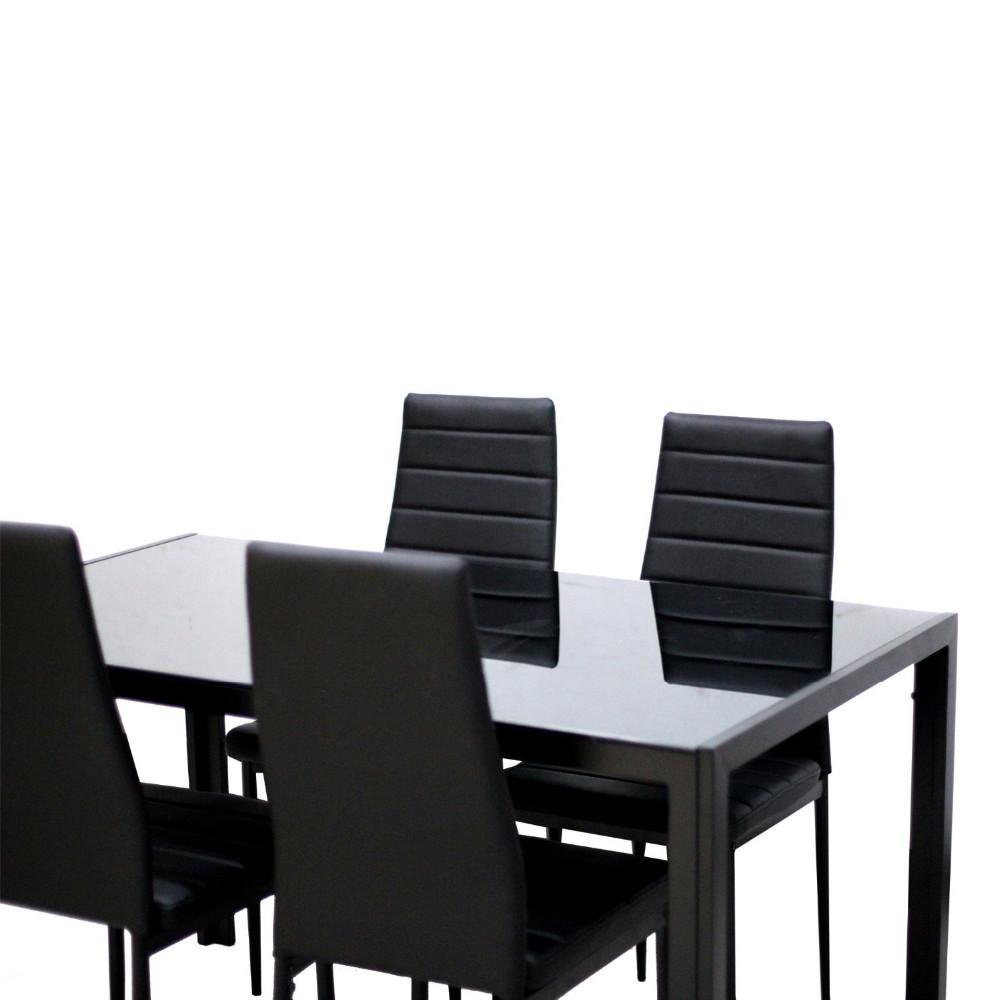 Nieuwste moderne luxe ontwerpen gehard glas eettafel eettafels ...