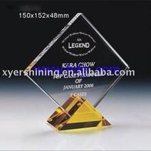 tree shaped crystal award trophy