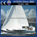 hison fábrica de venta directa de la costera de alta velocidad de barco de vela 20KM / H yate hace en China